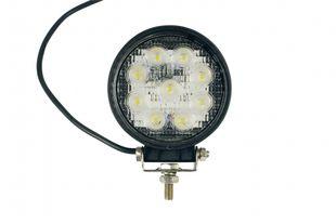 LED-Arbeitsscheinwerfer rund 27 W, 1620 Lumen, breit - ALGEMA SHOP