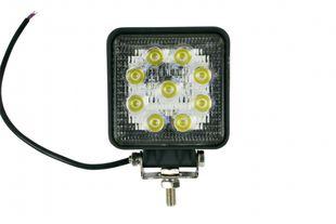 LED-Arbeitsscheinwerfer eckig 27 W, 1620 Lumen, weit - ALGEMA SHOP