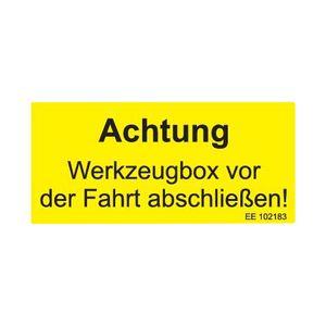 Aufkleber -Achtung Werkzeugbox- - ALGEMA SHOP