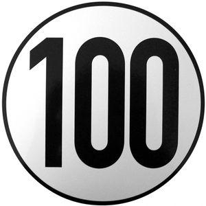 100 km/h Aufkleber rund - ALGEMA SHOP