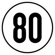 80 km/h Aufkleber rund - ALGEMA SHOP